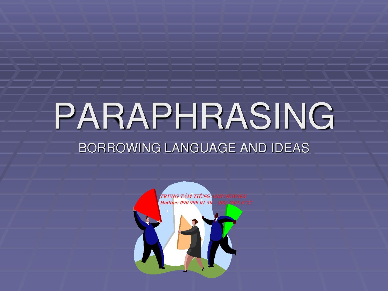 Các cách paraphrase hữu ích trong thi IELTS