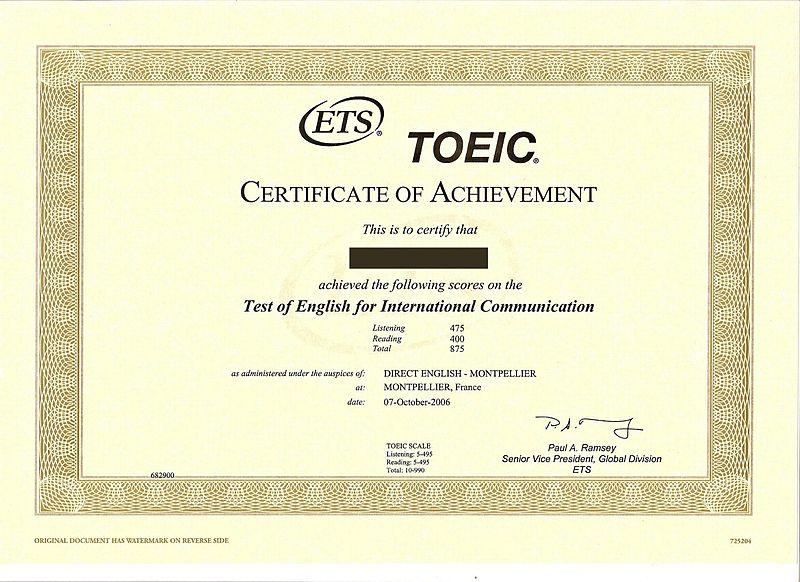 Thay đổi cấu trúc bài thi Toeic trong năm 2016