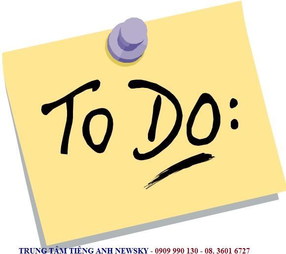 """CÁC CẤU TRÚC ĐI VỚI """"TO DO"""""""