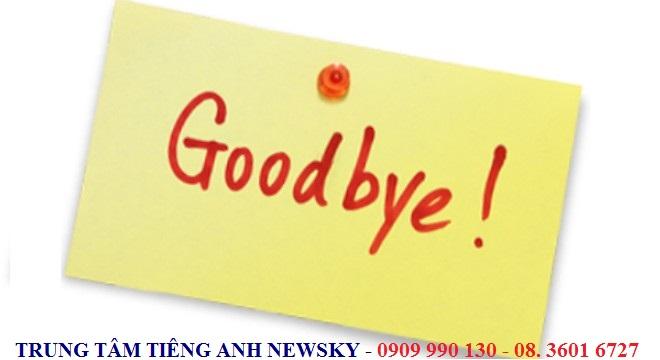Cách chào tạm biệt và yêu cầu giữ liên lạc