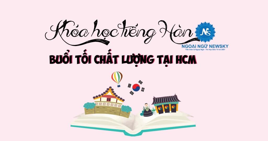 Học tiếng Hàn buổi Tối chất lượng
