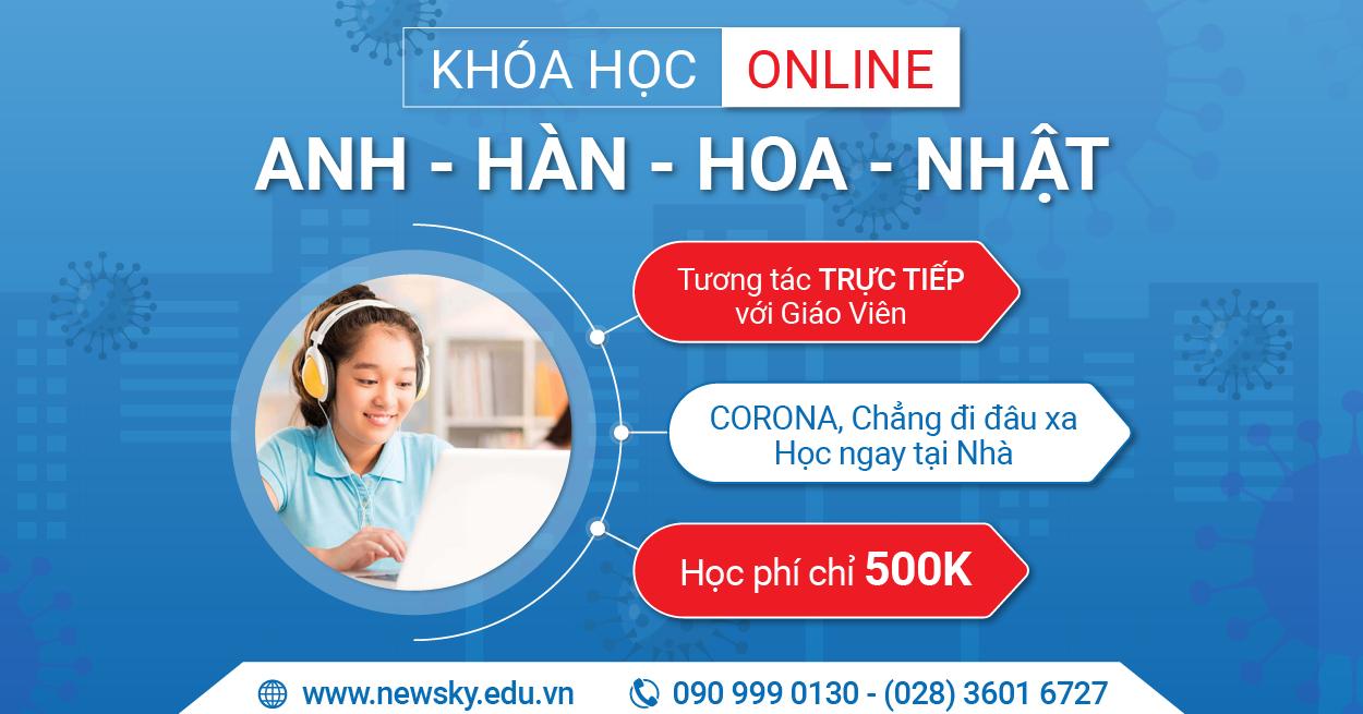 Khóa học Online tiếng Anh – Hàn – Hoa – Nhật giao tiếp