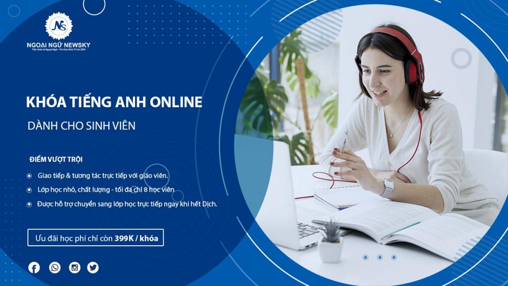 Khóa học tiếng Anh Online dành cho Sinh Viên