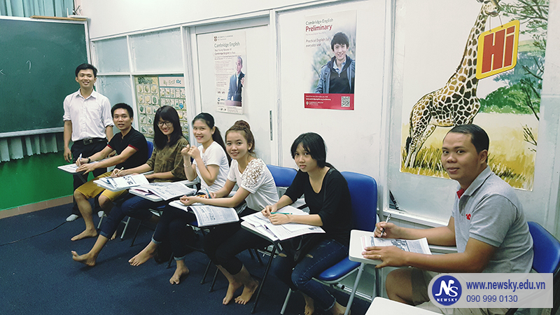 Một lớp học tiếng Anh giao tiếp tại NEWSKY