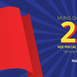 Cơ hội giảm đến 29% mừng ngày Quốc Khánh